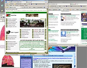 Imagen de varias páginas de contenido islámico en español.