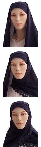 Explicación de cómo ponerse el velo. (hijabstoreonline.com)