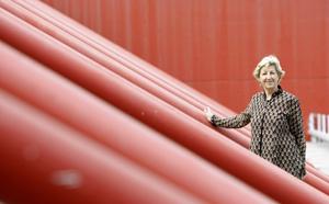 La directora general de la IUCN, Julia Marton-Lefevre, durante el congreso mundial de Barcelona. (Foto: REUTERS/Albert Gea).