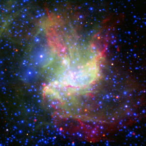 Imagen de la formación de una estrella tomada por un nuevo telescopio. (Foto: ESA).