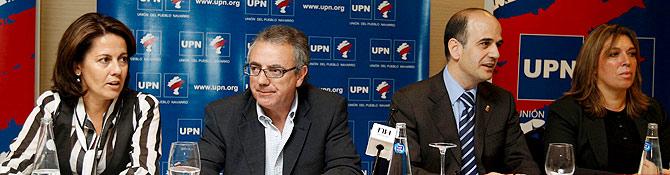 Reunión del Consejo Político de UPN en un hotel de Pamplona. (Foto: EFE)