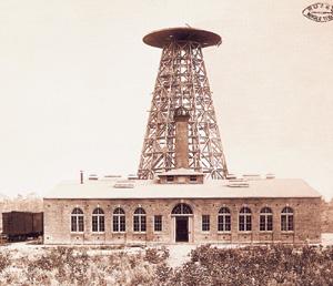 Torre para la transmisión de electricidad de Tesla. (Foto: Museo de Historia de Croacia).