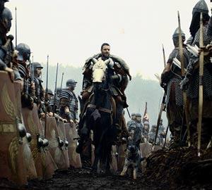 Russell Crowe, a caballo en un momento de la película. (Foto: AP)
