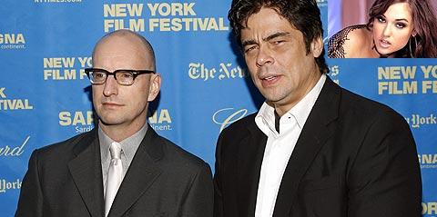 Steven Soderberg y Benicio del Toro, protagonista de 'Che'. (En la imagen dcha., superior, Sasha Grey)