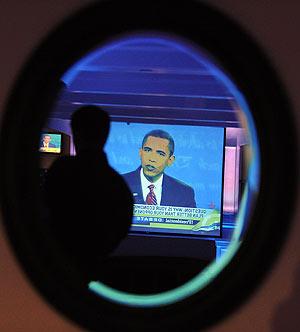 Obama, en un momento del último debate en televisión. (Foto: AFP)