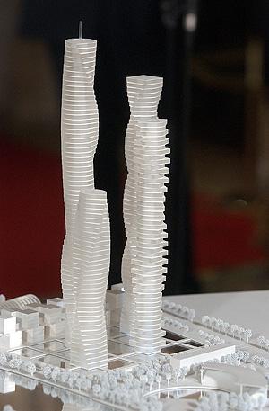 Maquetas del proyecto de Santiago Calatrava. (Foto: Vicent Bosch)