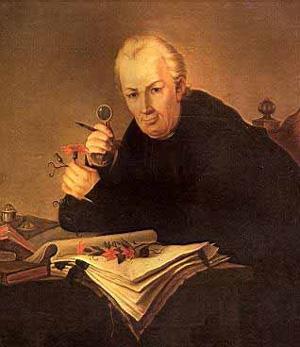 Retrato de época de José Celestino Mutis.