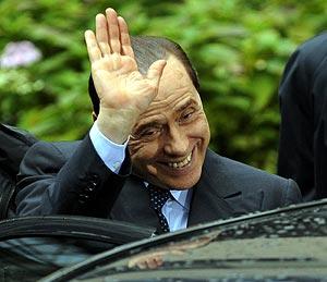 Silvio Berlusconi, el jueves, en Bruselas. (Foto: AFP)