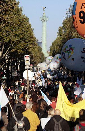 Un momento de la manifestación. (Foto: AFP)
