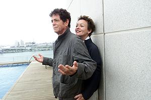 Lou Reed y Laurie Anderson, cuando estuvieron el el Festival Grec en 2003. (Foto: Rudy)