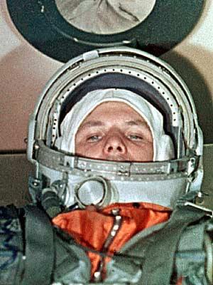 Yuri Gagarin, a bordo de la nave 'Vostok-1'. (Foto: AP)