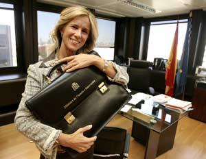 La ministra de Ciencia e Innovación, Cristina Garmendia. (Foto: Alberto Cuéllar)