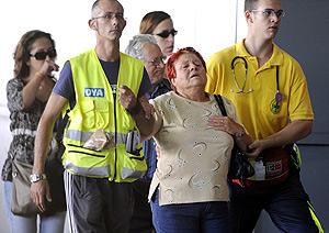 Uno de los familiares de las víctimas del accidente. (Foto: AFP)
