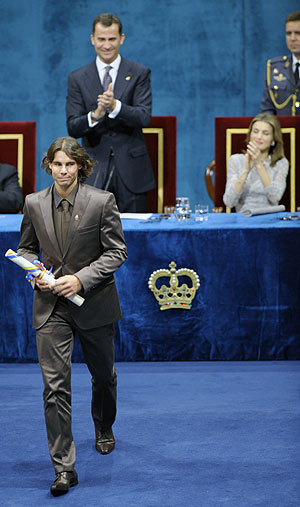 Rafael Nadal, número uno y oro olímpico, ahora también 'príncipe' del Deporte. (Foto: EFE)