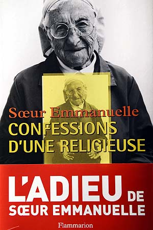 Portada del libro 'Confesiones' de Sor Emmanuelle. (Foto: AFP)