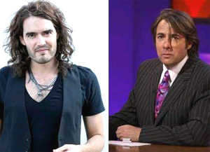Russell Brand y Jonathan Ross. (Fotos: BBC)