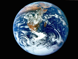 Vista del planeta Tierra captada por la tripulación del Apollo 17 (Foto: NASA).