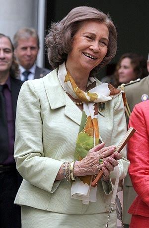 La Reina Sofía, durante su viaje a Perú. (Foto: EFE)