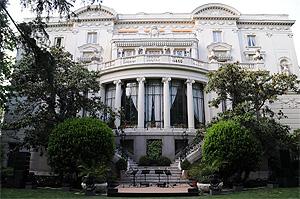 Fachada de la embajda italiana en Madrid. (Foto: Web de la institución)