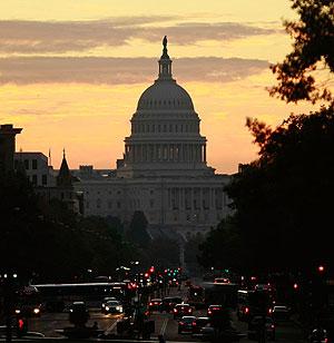 Vista del Capitolio desde la avenida de Pensilvania, en Washington. (Foto: AFP)