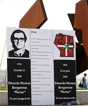 Homenaje al etarra Eduardo Moreno Bergartxe 'Pertur', ex líder de ETA político-militar. (Foto: Adriana Uribe)