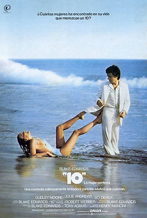 Cartel de '10, la mujer perfecta' (Blake Edwards, 1979)