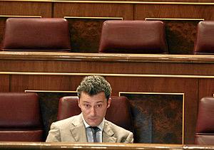 El diputado de UPN Santiago Cervera, en un pleno del Congreso. (Foto: Kike Para)