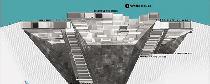 La Casa Blanca, según la imaginan los artistas consultados por Wired. (Foto: Wired.com)
