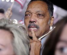 Jesse Jackson llora por el triunfo de Obama en las urnas. (Foto: EFE)