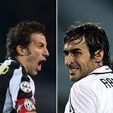 Del Piero y Raúl. (EFE   AFP)