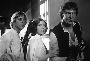 Escena de una de las entregas de 'La Guerra de las Galaxias', de George Lucas.