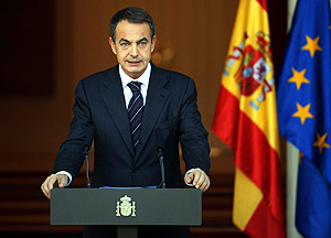 José Luis Rodríguez Zapatero valora los resultados de las elecciones de EEUU desde La Moncloa, el pasado miércoles. (Foto: AFP)
