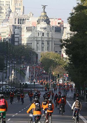 Los participantes del Madrid Bike Tour. (Foto: Kike Para)
