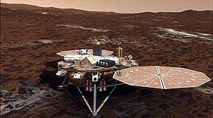 Ilustración que recrea la sonda Phoenix Mars Lander de la NASA sobre la superficie de Marte. (Foto: REUTERS)