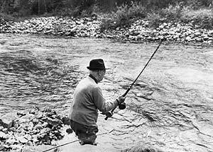 Franco, gran aficionado a la pesca.
