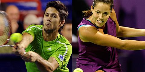 Fernando Verdasco y Ana Ivanovic, en la pista. (Fotos: EFE | AP)