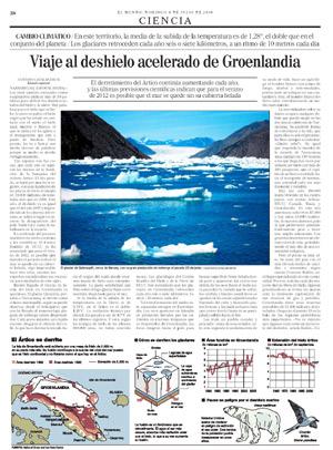 Página original del reportaje de Gustavo Catalán publicado en EL MUNDO.