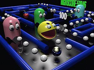 El Comecocos, uno de los clásicos de la historia de los videojuegos.