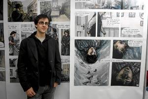 El dibujante vallisoletano , Raúl Allen. (P. Requejo)