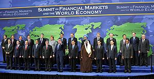 Los líderes de las veinte economías más fuertes y emergentes en la cumbre del G-20 del pasado 15 de noviembre. (Foto: AFP)
