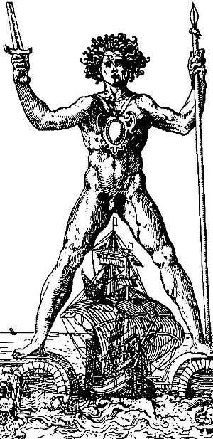 Dibujo con la representación del Coloso original. (Foto: EL MUNDO)
