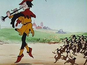 Fotograma de la película de animación 'El flautista de Hamelín'.