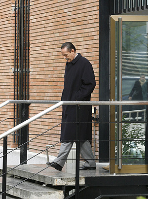 Julián Muñoz, a su salida de la Audiencia Nacional tras declarar sobre el 'caso saqueo de Marbella'. (Foto: Efe)