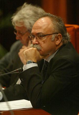Carod, durante su comparecencia. (Foto: Antonio Moreno)