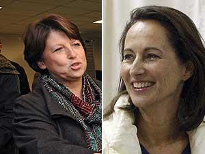 Martine Aubry (i) y Ségolène Royal (d). (Fotos: AFP | REUTERS)