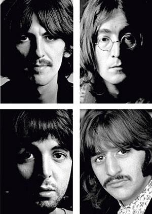 De izda. a dcha. y de arriba a abajo: Harrison, Lennon, McCartney y Starr.