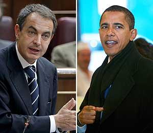 'The Washington Post' compara a Obama con Zapatero. (Fotos: EFE)
