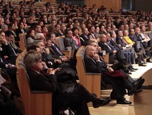 Asistentes al Congreso de la Lengua en Salamanca. (Foto: ENRIQUE CARRASCAL).