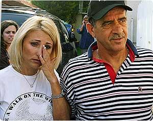Yaacov Alperon, cabecilla de uno de los clanes de la mafia local, con su esposa Ahuva.