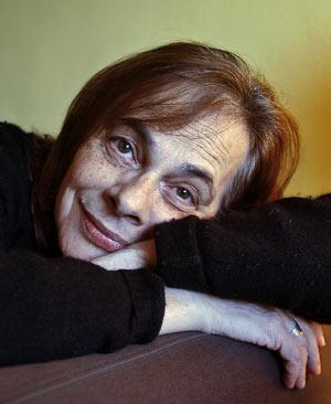 La poeta, en una entrevista para EL MUNDO. (Santiago Cogolludo)